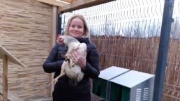 Daniela (40) so sliepkou, ktorá má neuveriteľné schopnosti. Zdroj: šiš